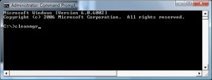 Type cleanmgr at command prompt